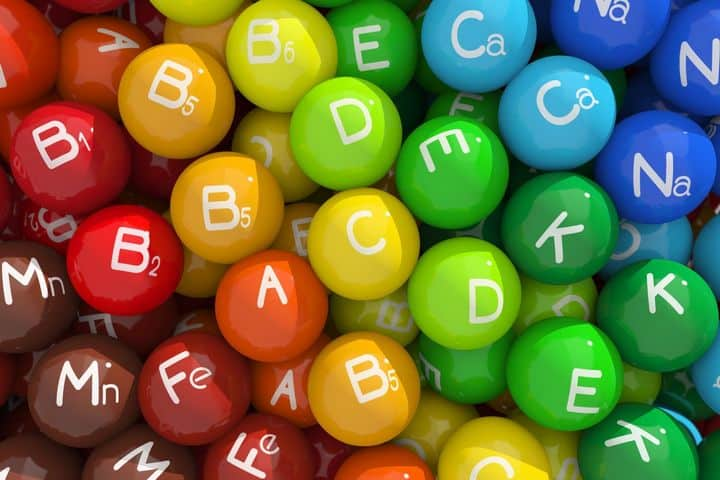 colorful balls depicting various vitamins and minerals