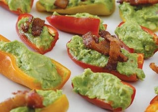 peppers stuffed with guacamole
