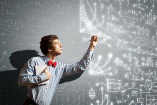 photo depicting man solving difficult problem