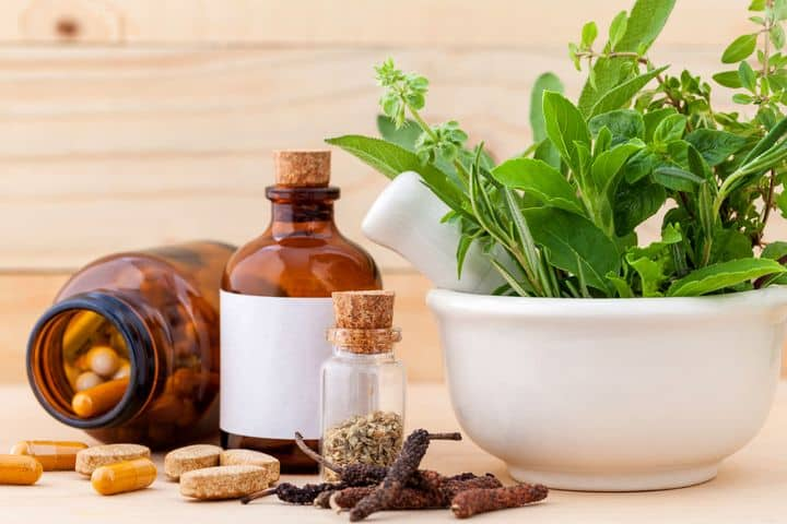 photo of herbal plants and supplements