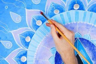 painting a mandala