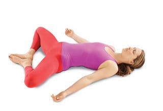 reclined bound angle yoga pose