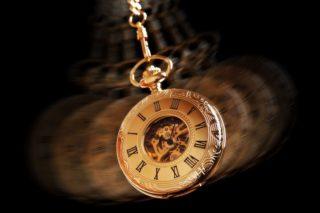 photo of swinging pocket watch