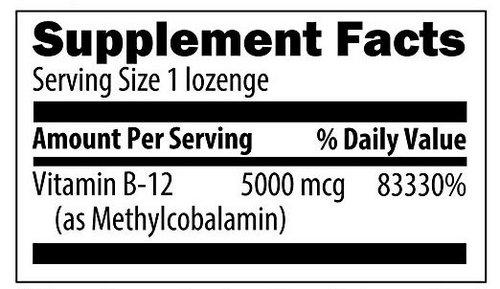 vitamin b12 supplement label