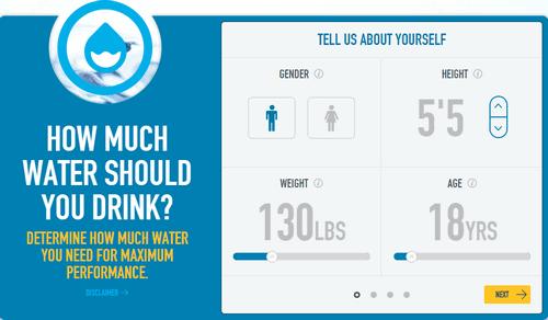 water hydration calculator