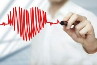 photo of an ekg in the shape of a heart