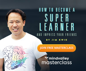 How to become a super learner, by Jim Kwik. Join free masterclass. Mindvalley masterclass. Image of Jim Kwik.
